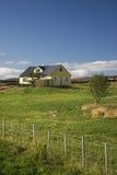 Buitenhuis Myvatn IJsland Scandinavië stock foto's