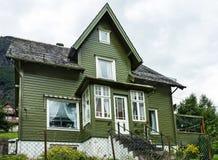 Buitenhuis in Noorwegen Royalty-vrije Stock Afbeelding