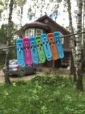 Buitenhuis op een de zomerdag Stock Fotografie