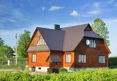 Buitenhuis, plattelandshuisje Stock Afbeeldingen