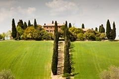 Buitenhuis in Toscanië Stock Foto's