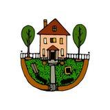 Buitenhuishand getrokken pictogram stock illustratie