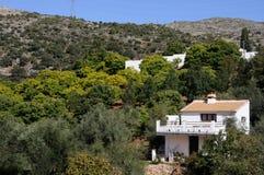 Buitenhuizen, Juzcar, Spanje. royalty-vrije stock foto