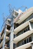 Buitenkant van in aanbouw de bouw Stock Afbeeldingen