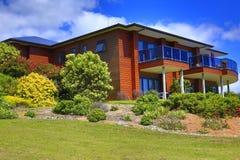 Buitenkant van Aurora Lodge Waipu, NZ royalty-vrije stock fotografie