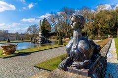 Buitenkant van Blenheim-paleis in Oxfordshire, het UK royalty-vrije stock afbeelding