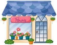 Buitenkant van bloemwinkel stock illustratie