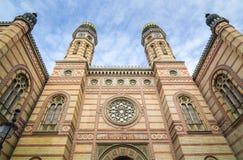 Buitenkant van de Dohany-Straatsynagoge in Boedapest, Hongarije Stock Afbeeldingen
