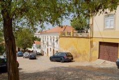 Buitenkant van de historische gebouwen op 18 Juli, 2006 in Silves, Portugal Stock Foto's