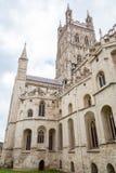 Buitenkant van de Kathedraal van Gloucester stock afbeelding