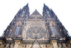 Buitenkant van de kathedraal van Praag Stock Foto