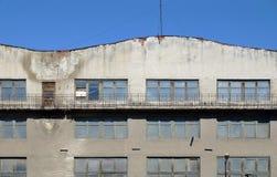 Buitenkant van de oude industriële bouw Royalty-vrije Stock Afbeeldingen