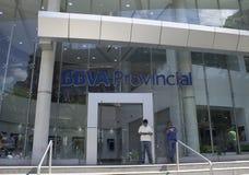 Buitenkant van de Provinciale Bank van BBVV in Caracas, Venezuela stock afbeelding