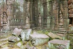 Buitenkant van de tempel van Krol Ko in Angkor, Kambodja Royalty-vrije Stock Foto's