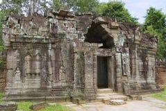 Buitenkant van de tempel van Krol Ko in Angkor, Kambodja Stock Afbeeldingen