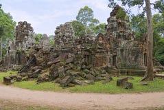 Buitenkant van de tempel van Krol Ko in Angkor, Kambodja Stock Foto's