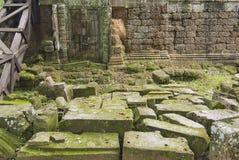 Buitenkant van de tempel van Krol Ko in Angkor, Kambodja Stock Foto