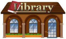 Buitenkant van een Bibliotheek stock illustratie