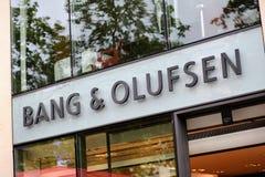 Buitenkant van een een Klap & Olufsen-opslag Royalty-vrije Stock Foto's