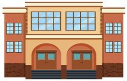 Buitenkant van een gebouw stock illustratie