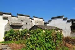 Buitenkant van een Hui, het huis van China Stock Afbeelding