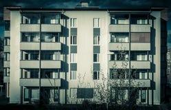 Buitenkant van flatgebouw Royalty-vrije Stock Foto