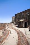Buitenkant van Fort San Felipe del Morro, Puerto Rico Stock Afbeelding