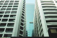 Buitenkant van glas woningbouw Bedrijfs concept De ruimte van het exemplaar stock afbeelding