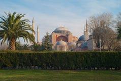 Buitenkant van Hagia Sophia in Istanboel, Turkije royalty-vrije stock fotografie