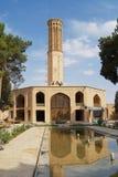 Buitenkant van het Dowlatabad-gebouw in Yazd, Iran royalty-vrije stock foto's