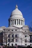 Buitenkant van het het Capitoolgebouw van de Staat van Arkansas in Little Rock Stock Afbeelding
