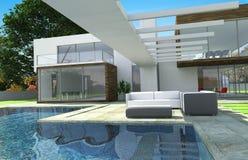 Buitenkant van het luxe de moderne herenhuis vector illustratie