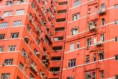 Buitenkant van het oude flatgebouw Royalty-vrije Stock Afbeelding