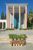 Buitenkant van het Saadi-mausoleum in Shiraz, Iran royalty-vrije stock afbeeldingen