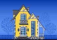 Buitenkant van huis in de stad vector illustratie