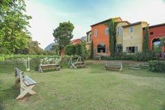 Buitenkant van Italiaans huis Stock Foto