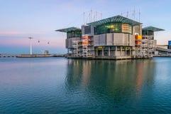 Buitenkant van Lissabon Oceanarium royalty-vrije stock foto