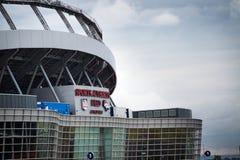 Buitenkant van Mile High Stadium, Denver, Colorado Royalty-vrije Stock Afbeelding