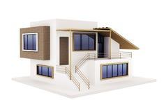 Buitenkant van modern huis stock illustratie