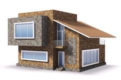 Buitenkant van modern huis vector illustratie