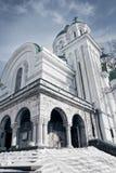 Buitenkant van orthodoxe oude antieke kerk Stock Foto's