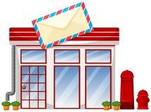 Buitenkant van postkantoor stock illustratie
