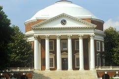 Buitenkant van Rotonde bij Universiteit van Virginia door Thomas Jefferson, Charlottesville, VA wordt gebouwd die stock foto's