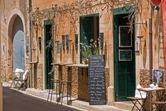 Buitenkant van Spaans restaurant Stock Afbeeldingen