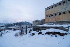 Buitenkant van verlaten gevangenis Stock Afbeelding