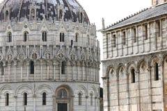 Buitenkanten van de Doopkapel van Pisa, Pisa, Italië Royalty-vrije Stock Afbeelding