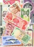 Buitenlandse nota's Royalty-vrije Stock Foto's