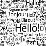Buitenlandse seamlees van Hello Stock Afbeeldingen
