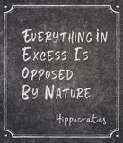 Buitenmate Hippocrates stock afbeeldingen