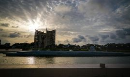 Buitenmening aan de onafhankelijkheid van Monumentende le, Lomé, Togo stock foto